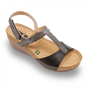 Sandale confortabile Leon 1061 Negru0