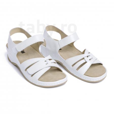 Sandale confortabile Leon 2021 Alb [0]