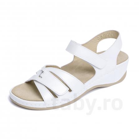 Sandale confortabile Leon 2021 Alb [1]
