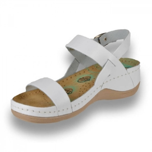 Sandale confortabile Leon 920 Alb1