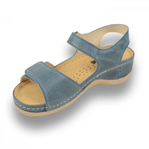 Sandale confortabile Leon 935 Albastru [3]