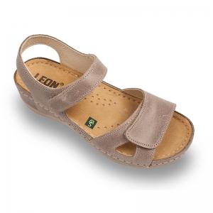 Sandale confortabile Leon 935 Gri-Maroniu0
