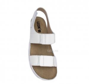 Sandale confortabile Leon 945 Alb1