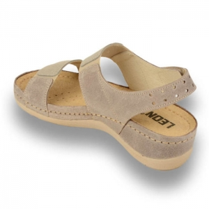 Sandale confortabile Leon 945 Gri-Maroniu2