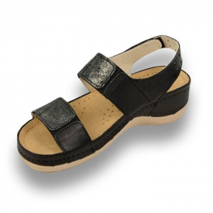 Sandale confortabile Leon 945 Negru [2]