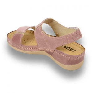 Sandale confortabile Leon 945 Rose2
