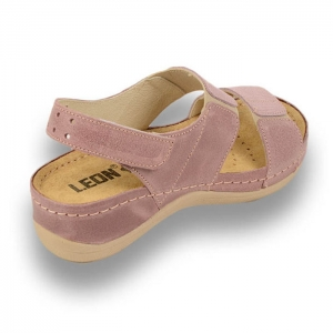 Sandale confortabile Leon 945 Rose3