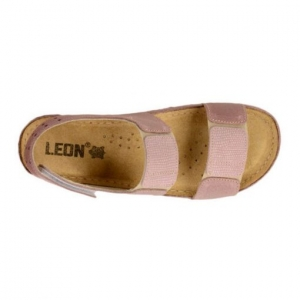 Sandale confortabile Leon 945 Rose4
