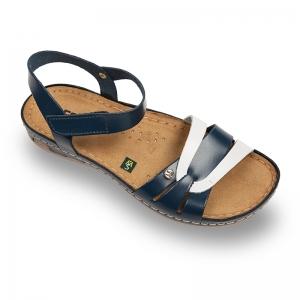 Sandale confortabile Leon 961 Albastru-Alb0