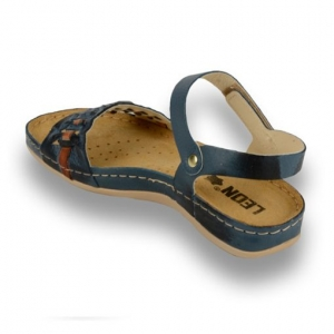 Sandale confortabile Leon 964 Albastru2