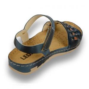 Sandale confortabile Leon 964 Albastru3
