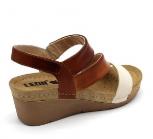 Sandale cu talpa ortopedica 1020 Maro4