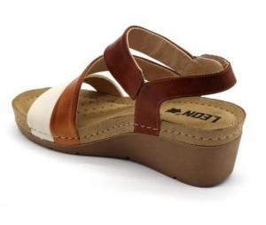 Sandale cu talpa ortopedica 1020 Maro3