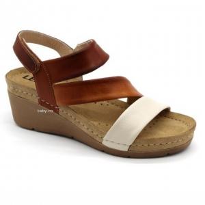 Sandale cu talpa ortopedica 1020 Maro0