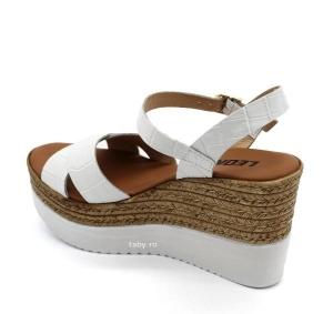 Sandale cu talpa ortopedica 1300 Alb1