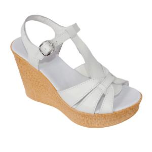 Sandale din piele naturala 204 Alb [0]