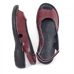 Sandale din piele naturala 230 bordo1