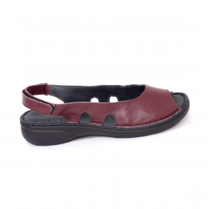 Sandale din piele naturala 230 bordo2