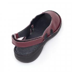 Sandale din piele naturala 230 bordo3