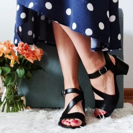 Sandale din piele naturala 250 Negru [1]