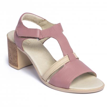 Sandale din piele naturala 260 Roz2