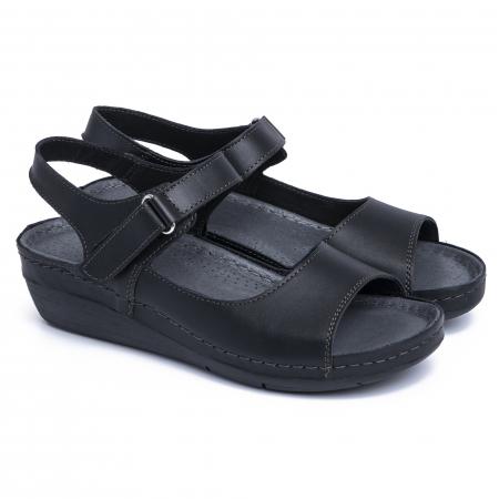 Sandale din piele naturala 257 Negru1