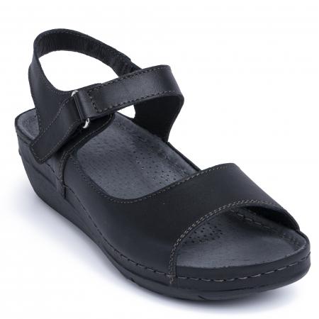 Sandale din piele naturala 257 Negru2