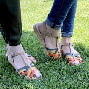 Sandale din piele naturala 258 Color Vara2
