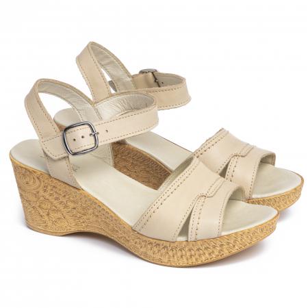 Sandale din piele naturala 195 Bej [1]