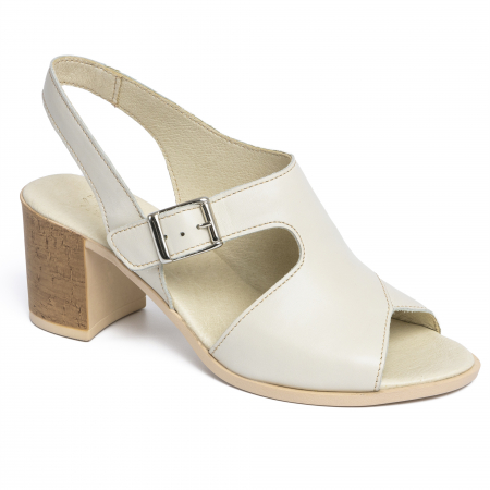Sandale din piele naturala 279 Crem0