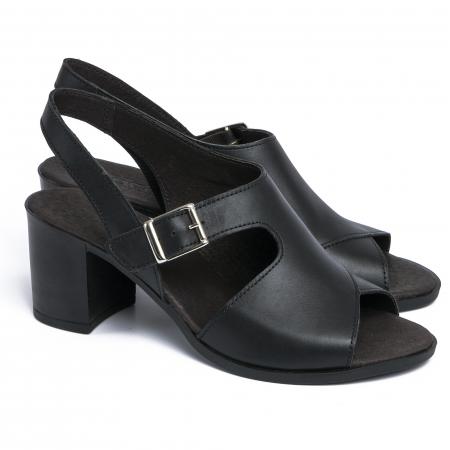 Sandale din piele naturala 279 Negru1