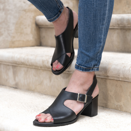 Sandale din piele naturala 279 Negru [2]