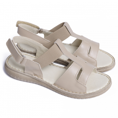 Sandale din piele naturala 452 Bej [1]