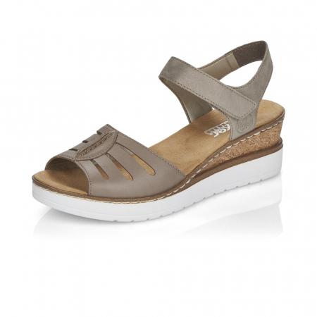 Sandale din piele naturala Rieker V38G6-64 Bej [3]