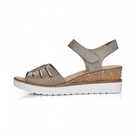 Sandale din piele naturala Rieker V38G6-64 Bej [5]