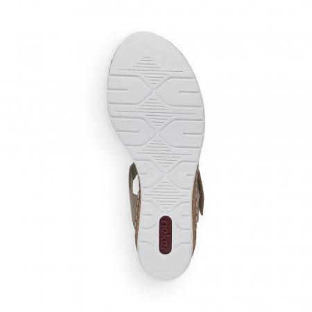 Sandale din piele naturala Rieker V38G6-64 Bej [6]
