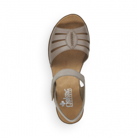 Sandale din piele naturala Rieker V38G6-64 Bej [4]