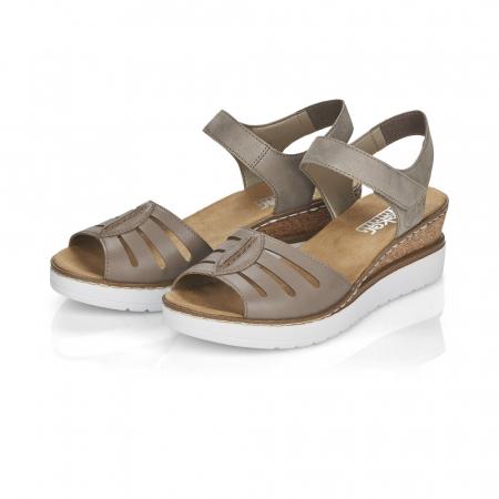 Sandale din piele naturala Rieker V38G6-64 Bej [7]