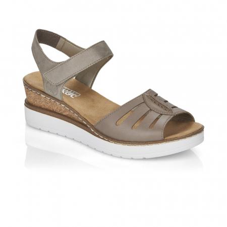 Sandale din piele naturala Rieker V38G6-64 Bej [0]
