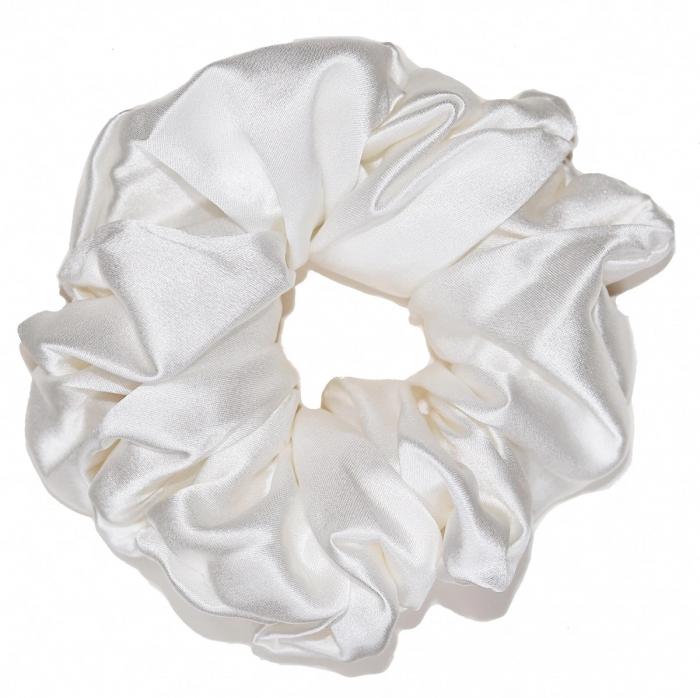 Set elastice par largi (Scrunchies) - Alb, roz & negru [1]
