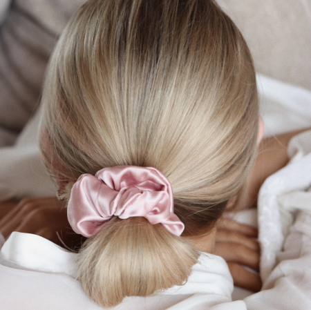 Set elastice par largi (Scrunchies) - Alb, roz & negru [5]