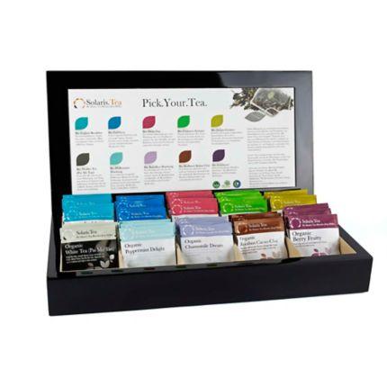 Cutie prezentare Neagră de Lemn & 50 plicuri ceai Organic [0]