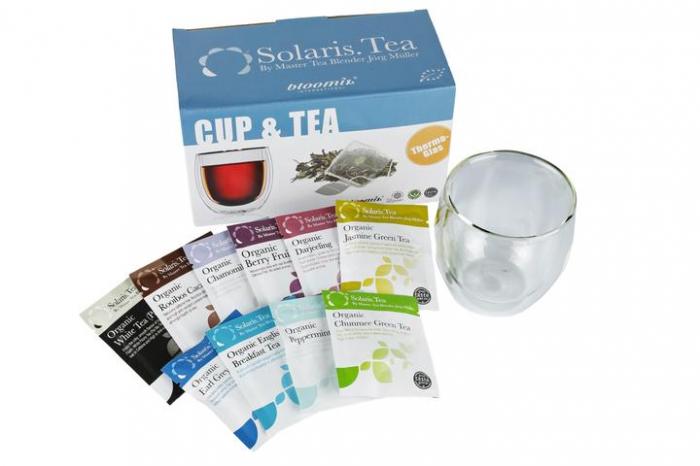 Set Solaris Pahar Ceai & 10 plicuri ceai 0