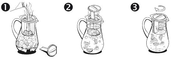 FINUM Infuzor de ceai la rece 1.8L 2