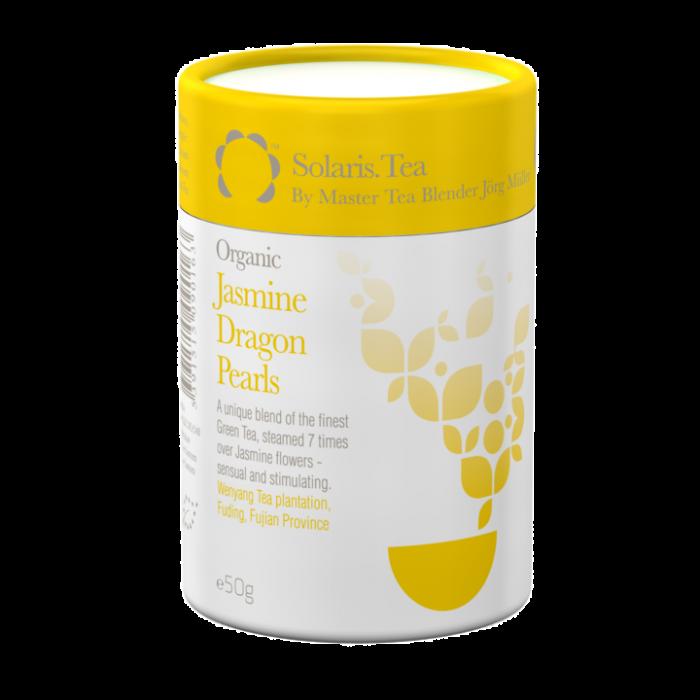 """Ceai Organic Iasomie """"Perlele Dragonului"""" Frunze Cilindru 50gr 0"""