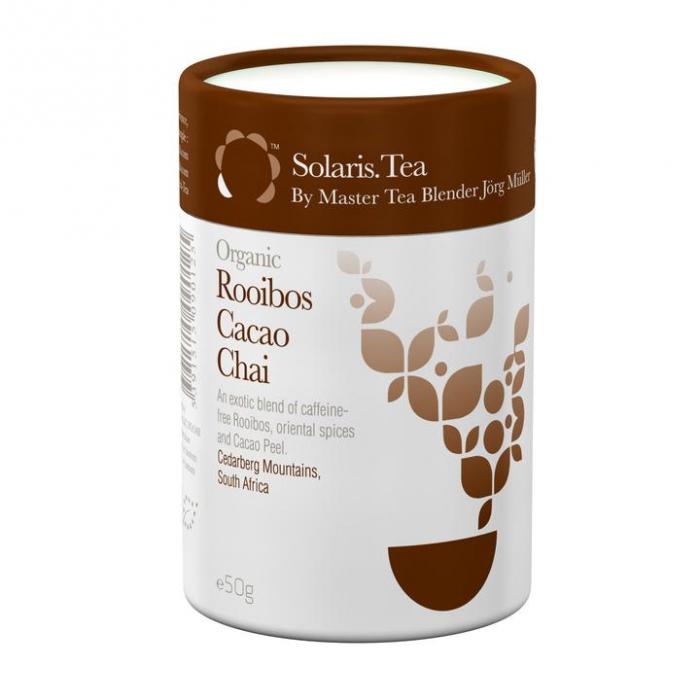 Ceai Organic Rooibos Cacao Chai Frunze Cilindru 50gr 0