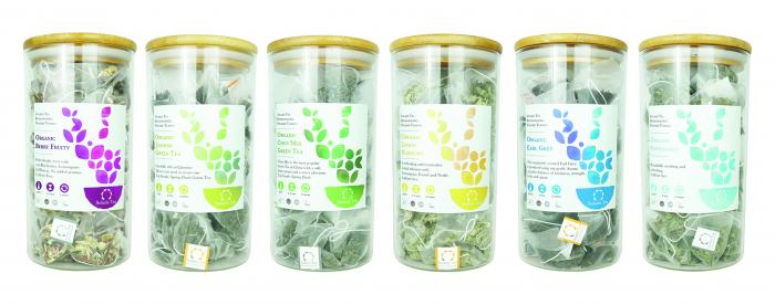 Recipient sticlă cu capac din bambus - Solaris 1