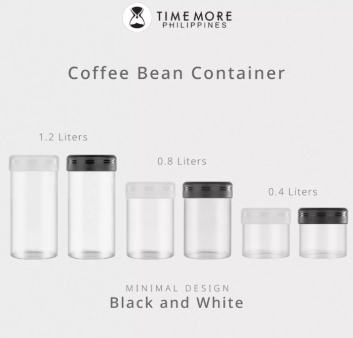 Recipient cafea din sticla 1200ml NEGRU Timemore [5]