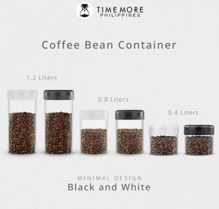 Recipient cafea din sticla 1200ml NEGRU Timemore [3]