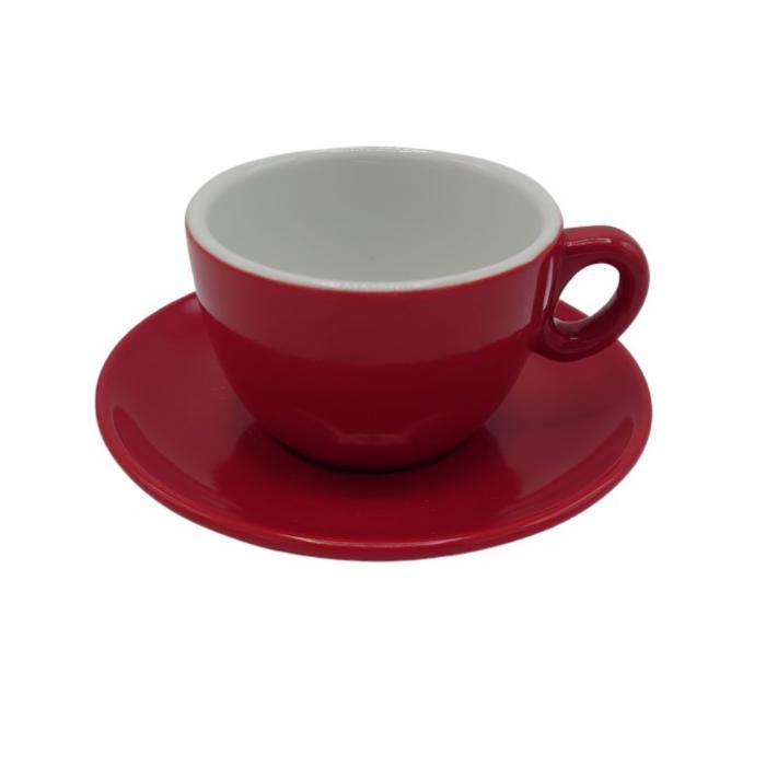 Ceasca Cappuccino din portelan Inker 170ml - Rosu [1]